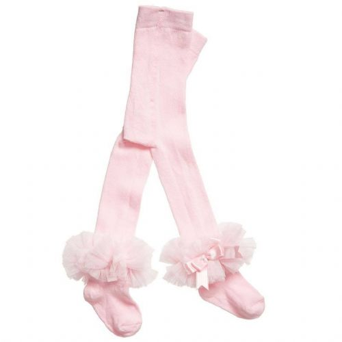 Stunning Spanish Baby Girl Tutu Frilly Tights Perfect for Gift Pink White Ivory